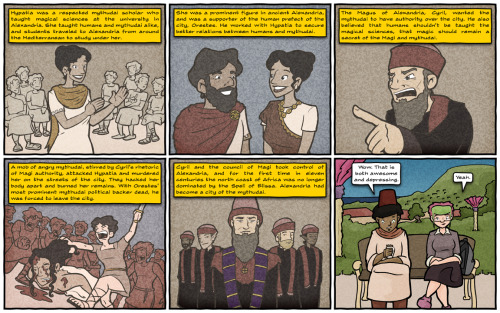 New 'Threads from the Blue Rock Tapestry' is online, featuring Hypatia of Alexandria.