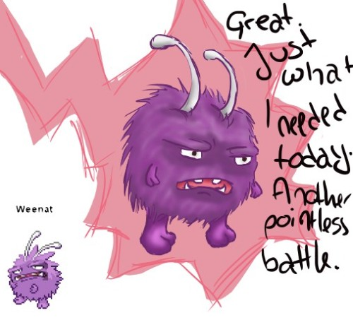 welcometomycreepshow:  Might have found my spirit pokemon on pokemon fusion…