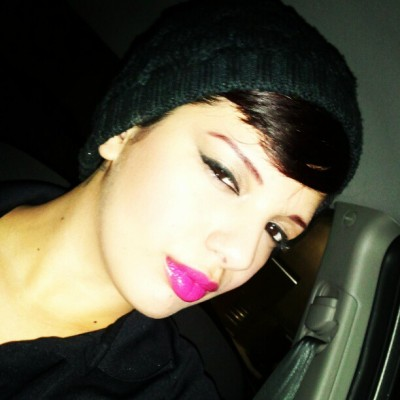 #pink #lips #makeup #bright #cateye #me #shorthair #car #break