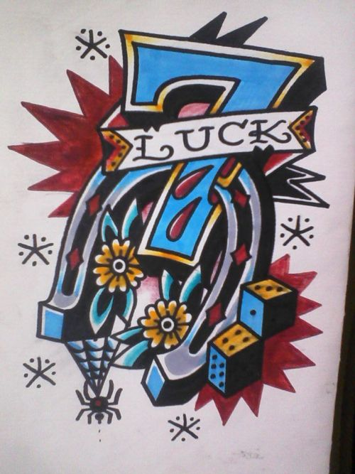 Good luck          by: kyle sartorelli mania ink milwaukee, wi