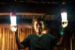 We're using solar power to light up rural villages in Timor-Leste that have never had electricity. Read more.