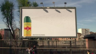Insecticide for Outdoors. Orphea Sticky Bugs Catcher Billboard by Publicis Italy