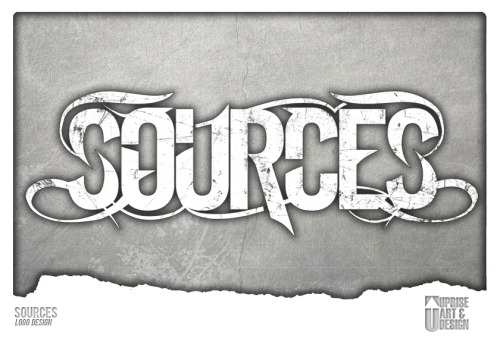 Logo/Identity Design for a band called Sources. Any questions/inquiries? Email upriseart@gmail.com