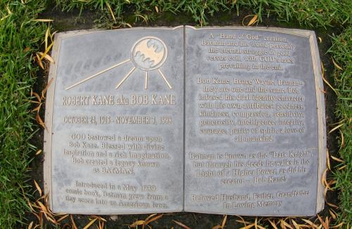 everybody thinks i'm kidding when i tell them about bob kane's grave (via)