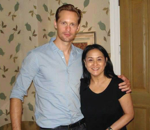 """My fav vampire @TrueBood Alexander Skarsgard. He's in two new films @The East and @What Maisie Knew He's SOOO very nice."" -SharonFJohnson @ twitter"