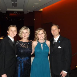 The wonderful Brouwers family at our VIP Reception! Daron, Tricia, Lauren, Jon #autismspeaksCHI #EWTS #oscars