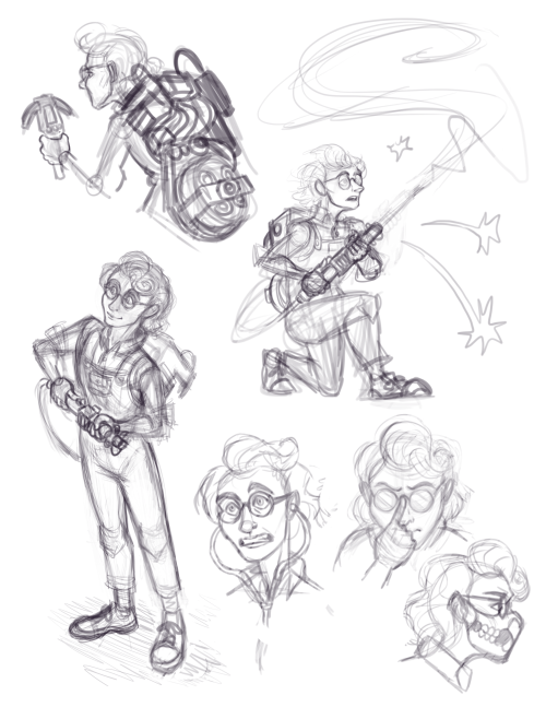 I really want to finish these WIPs by Halloween! #wip#sketch#fan art#phoebe spengler#peoplebusters
