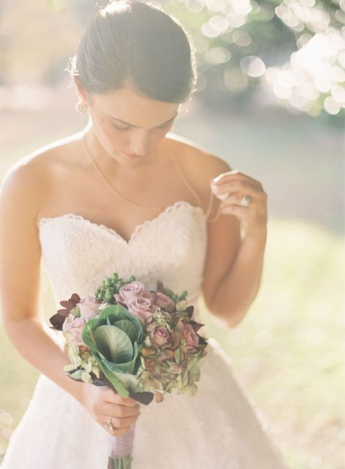 burnettsboards:  purple bridal bouquet