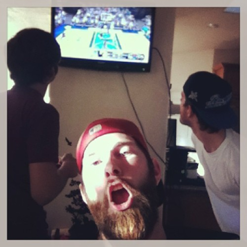 Beers, #beards and NBA 2k12 . @joekavp @jasonavp #beardlife #beardpower #beardedselfie