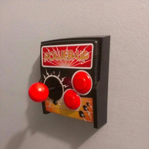 New light switch for the office #arcade #gamer #awesome