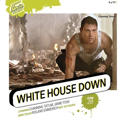 Channing Tatum and his action movie White House Down are featured in Entertainment Weekly's summer movie preview! Pick up the April 19/26 double issue (on digital and print newsstands now) to check it out.
