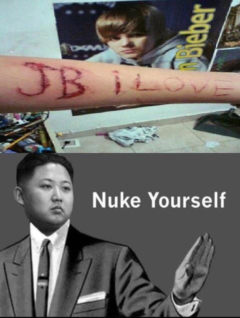 Nuke yourself HHH i know its not cereal guy hh  Submitted by Kim Bro Un ;)