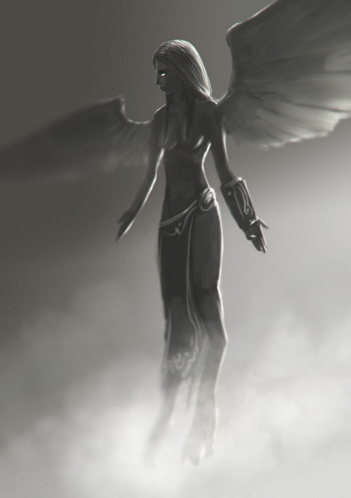 A kinda Were-Angel was my sketchbook & speedpainting-practice of today, took around 30 minutes in Photoshop.