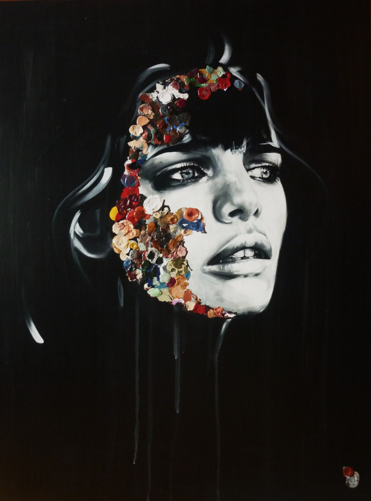 Sandra Chevrier - La Cage Arc-En-Ciel Maladif, 2013 Paintings: Acrylics on Canvashttp://www.mirusgallery.com/artists/sandra-chevrier