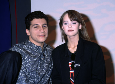Nagui and Vanessa Paradis.