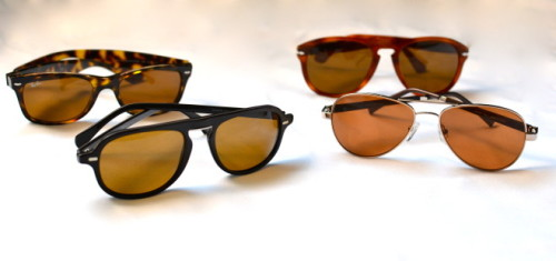 via Eyewear | Summer Classic Eyewear Blonde Tortoise Frames - Ray-Ban Havana Brown - Persol Black Brown - Giorgio Armani Gold Aviators - Joseph Marc
