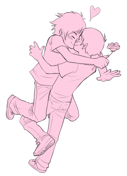 zu-art:  AND MY OTHER OTP ALSO PINK   AND THEN THERE ARE MY BABIES MY BEAUTIFUL, STUPID, ANNOYING BABIES /CRIES