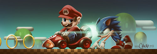 it8bit:  Mario vs. Sonic Created by Ricardo Chucky
