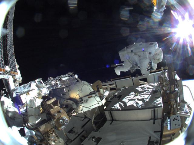 JAXA astronaut Soichi Noguchi is pictured during a spacewalk by NASA Johnson https://flic.kr/p/2kJZZJ1 #IFTTT#Flickr