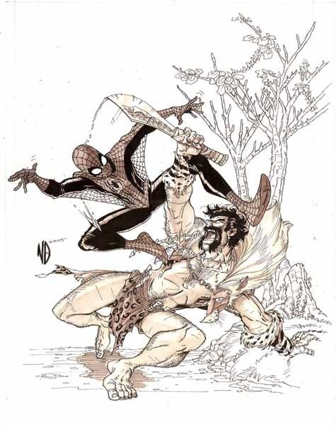 Spidey vs Kraven: The Hunter by Nick Bradshaw.