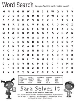 Find the math-related words, and enjoy Sara Solves It, an Amazon original pilot for kids: http://amzn.to/16IXNOl