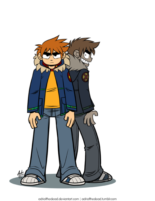 rainydayquesting:  Scott Pilgrim and Nega Scott by AdrioftheDead.