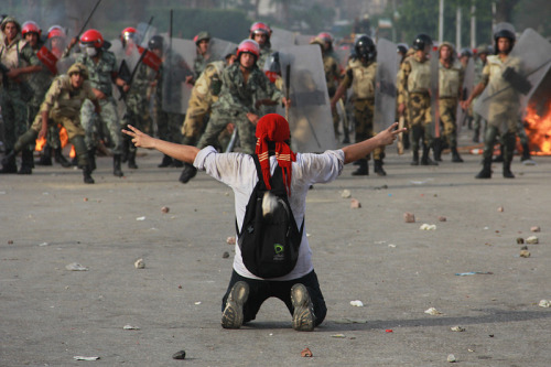 "International Crisis Group Warns of Socio-Economic Riots in Egypt | Atlantic Council The International Crisis Group issued a conflict alert on Egypt on Monday. The report states, week-long clashes and protests erupting after the sentencing of over 20 Egyptians to death in the case of the Port Said Massacre ""are symptomatic of a larger trend — erosion of respect for governing institutions. In the Suez Canal Zone and the Nile Delta, protestors have violently targeted administrative buildings, symbols of an authority viewed as removed, arbitrary and impotent. The collapse of the police and increased porosity of borders with Libya and Sudan, thus a marked increase in the illegal trafficking of light arms, further enable street violence."" ICG places responsibility both on both President Mohamed Morsi and the group from which he hails, the Muslim Brotherhood, as well as on opposition groups unwilling to compromise. FULL ARTICLE (Atlantic Council) Photo: Mosa'ab Elshamy/Flickr"