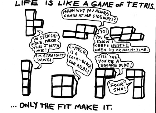 Tetris and Life by Husam Zakharia #tetris