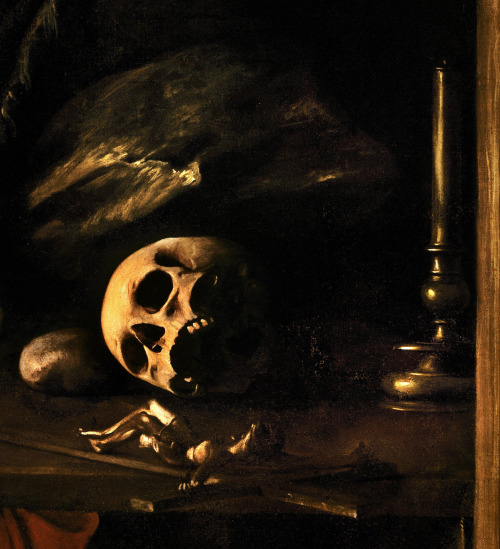 Caravaggio: St Jerome Writing in His Study (detail)