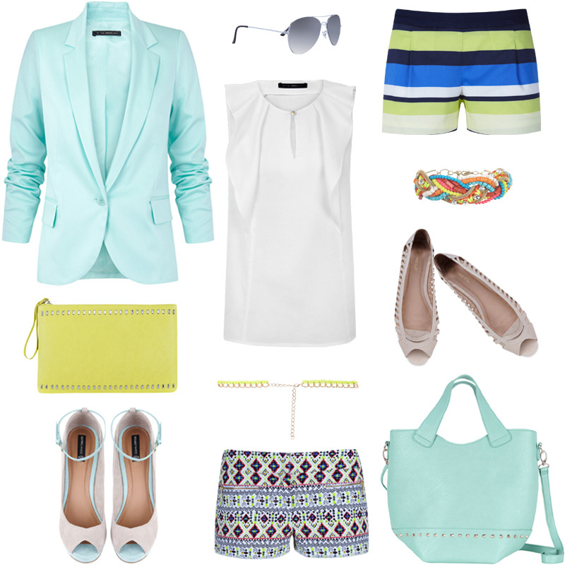 Shop Now Blanco.com: Blazer / Gafas de Sol / Top / Short / Pulsera / Bolso / Cinturón / Calzado / Calzado / Short / Bolso.  (SUITEBLANCO Spring Summer 2013 Collection).