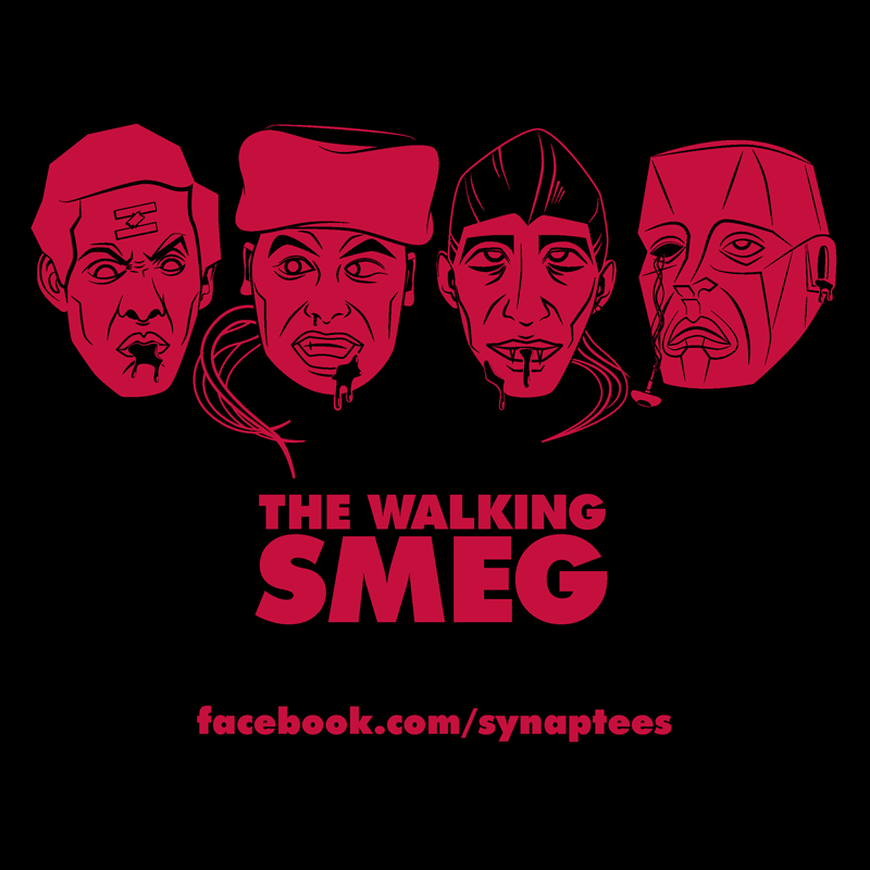 The Walking Smeg http://www.redbubble.com/people/synaptyx/works/9885939-the-walking-smeg