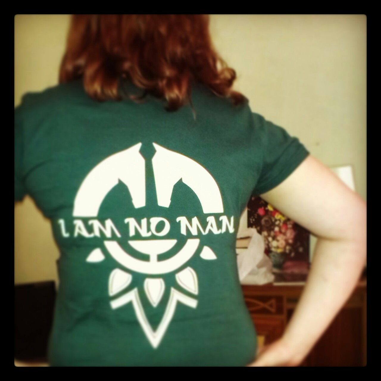 scenenothing:  My t-shirt arrived today! Awesome eowyn quote designed by tharook.  woo!