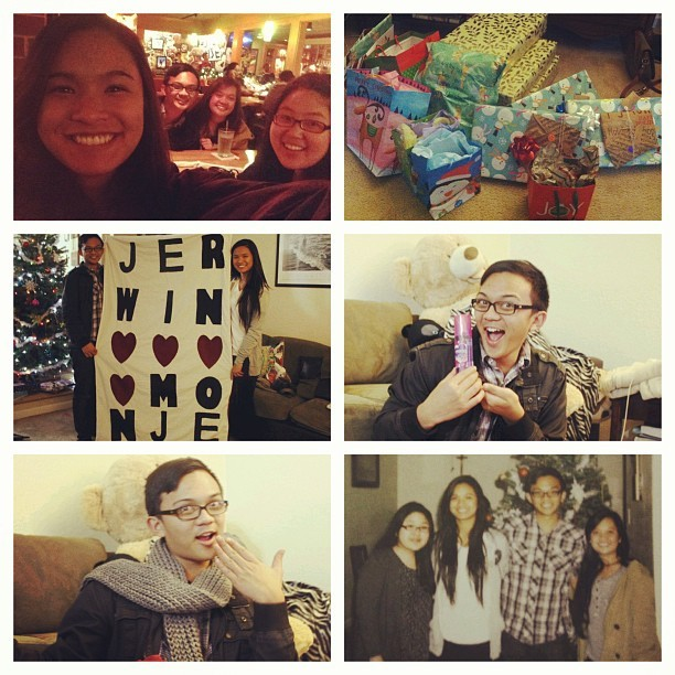 Had so much fun with these girls last night! Dinner, a gift exchange, and Pitch Perfect. I have the most amazing friends ❤ #bestfriends #charmed #winterbreak #christmas  (at Haüs of G)