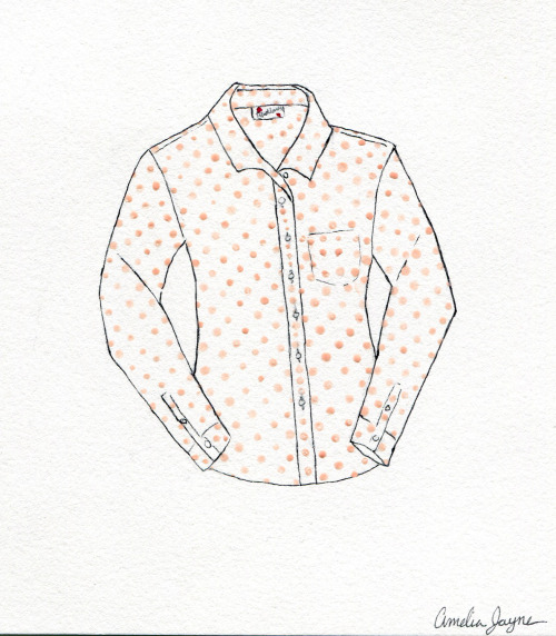 Drawing of Tradlands Beach Chalet shirt!