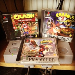 0liii:  the rest of my day is sorted. #playstation #crash #retro