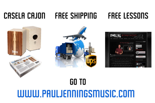 Looking for a cajon with FREE shipping and FREE lessons? Look no further.  www.pauljenningsmusic.com
