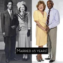 "someweird-dude:  READ, COMMENT, LIKE & SHARE!This lovely couple have been married for 65yrs. I was so lost in thoughts, looking and wondering what those 65years of being together must have been like.I could only imagine what they must have endured as a biracial couple at a very crucial time in history. And one wouldn't be wrong to assume that their love story comprises of bitter/ sweet experiences.Could you imagine the prejudice that they must have suffered as a result of their love during the late 30's, 40's, and the 50's and at a time when there was so much racism, and segregation and relationship such as the the one they have was such a taboo. What they must have endured…. what a love story!And to the unmarried /newly weds, have you ever imagined (and I mean, truly imagine) what it would be like to have the same life partner for 65yrs. This would mean growing with this one person, aging with them, loving them with all their flaws, and with all their faults. And understanding them, knowing their strengths and helping them through their weaknesses, and being there for them even at the lowest time of their lives for 65years! Have you ever really imagined?Think about it….Marriage should be about totally committing to your partner in all aspect of your lives. Marriage should be about totally dedicating yourselves to one another. Marriage should mean NEVER letting go of the one you vowed to LOVE, PROTECT, CHERISH. Marriage should be about defending and protecting the one you vowed to be with for the rest of your life.And as I starred on (still lost in thoughts), I couldn't help but wondered why the new generation is so different from the older generation. I thought about how lightly we tend to take our words these days. A generation with absolutely no respect for wedding vows, or for the institution of marriage.Where did our generation missed the moral mark. When did giving up on marriage become the only option as oppose to doing whatever it takes to succeed in marriage?What happened to fighting for love and family? What happened to upholding the vows that we took to love, and to cherish, for better or worse, in sickness and in health till death do you path""? Where did we get it wrong? How can we fix this? How can we make things right again? Can we ever find our way back to marriage the way God intended?And as you all ponder over these words, it is my prayer that God grant you the strength, the willingness, the confidence, and the dedication that you need to sustain your relationship /marriage.May God grant you the grace to commit strongly, to feel deeply, to heal totally, and to love strongly, Amen!!!!!"