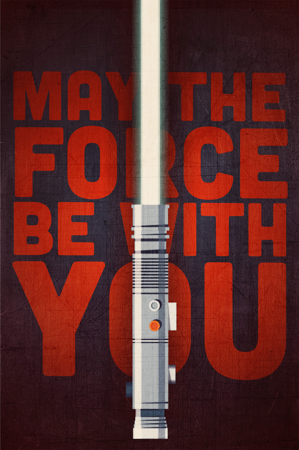 twentyonecreative:  May The Force Be With You