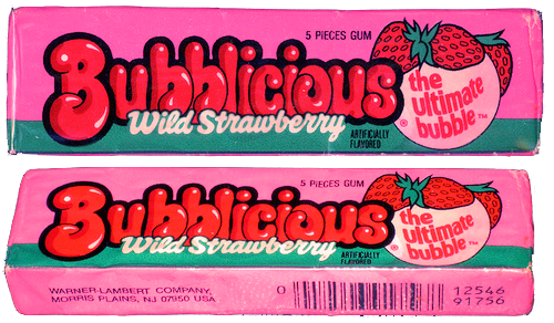 Bubblicious Wild Strawberry Gum
