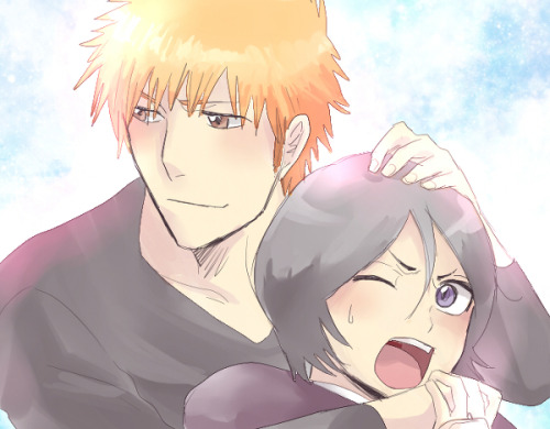 "ichiruki66:  ""Rukia…Welcome back! !"" by   晃@きままに (on pixiv)"