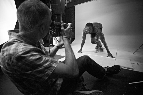 Photographer Mike Powell shooting Sports Legend Usain Bolt In Jamaica for Nissan
