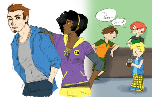 I think Lashawn is teasing Owen that Kara couldn't come out for coffee… And then Ev's being an idiot but whats new there.
