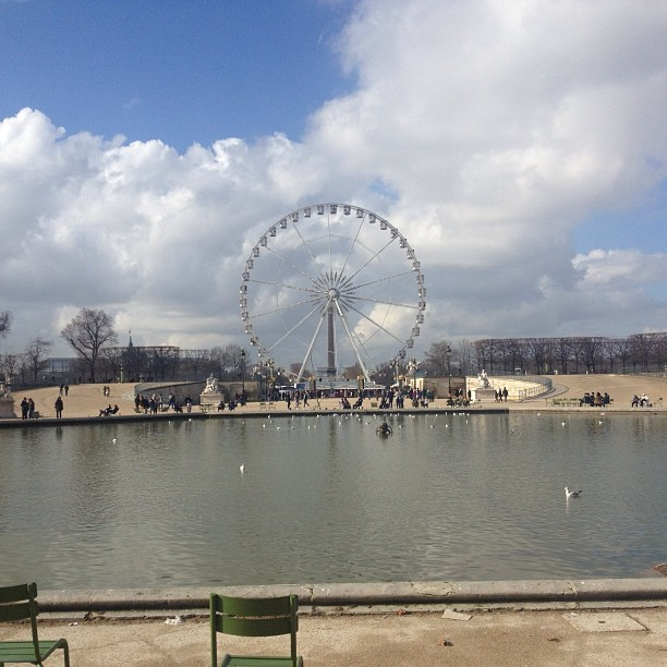 Earlier today!!  (at Grande Roue de Paris)