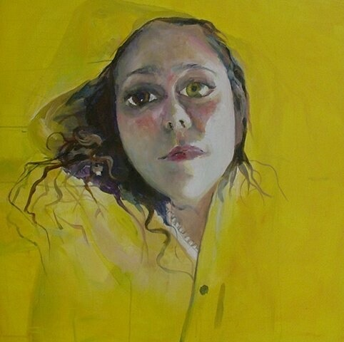 heidimulderartist:  Crayon Psychological portrait,Yellow Serieswww.heidimulder.com