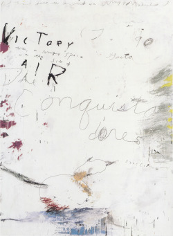 Artist Cy Twombly (1928 –  2011) | Posted by devidsketchbook