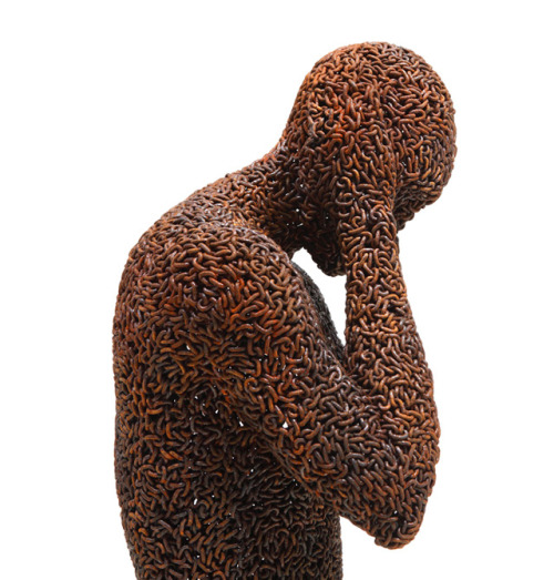 (via New Bicycle Chain Sculptures by Young-Deok Seo | Colossal)