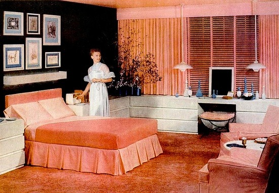 theniftyfifties:  1955 Cannon bedroom design.