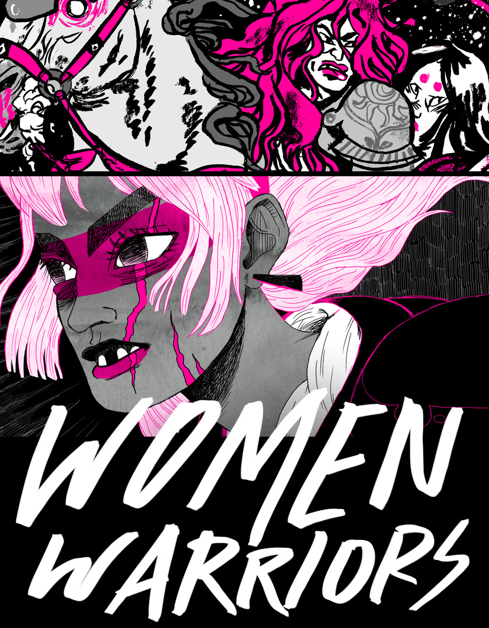 "krismukai:  roxievizcarra:  This 2nd edition run of the Women Warriors zine/art book is a whopping 8.5 x 11 magazine size and boasts 52 pages of BLACK, WHITE, and MAGENTA artwork by the following 35 insanely awesome artists:  Domitille Collardey Courtney Bernard Jen Wang Shannon May Disa Wallander Joanna Krótka Nicole Miles Nick Iluzada Heather Danforth Rachel E. Morris Cathy G. Johnson Jimmy Giegerich Anthony Macbain Kyla Vanderklugt Christina Barrera Kyle Fewell Julia Scott Andrea Kalfas Sloane Leong Zach Hazard Vaupen Daniel Krall Sam Bosma Roxie Vizcarra Hannah K. Lee Chris Visions Daniel ""Locus"" Allen Kali Ciesemier Abby Boeh Nick Sumida Richie Pope Coleman Engle Babs Tarr Katie Turner Kris Mukai Mike Bear  WOW THAT'S A LOT OF AWESOME PEOPLE. Also, the first 50 people who pre-order the zine will get a little surprise gift for freeeee! NOW AVAILABLE FOR PRE-ORDER ON STORENVY:  WOMENWARRIORS.STORENVY.COM  G-G-G-GET IT."