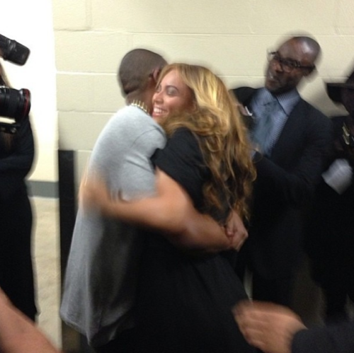 thestrutny:   (via Photo: Beyonce and Jay-Z after the Super Bowl performance)