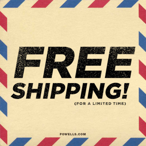 That's right: FREE SHIPPING! But only for a limited time. Click for details.